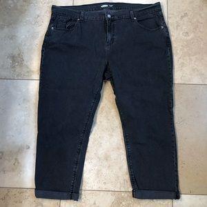 Old Navy Mid Rise Boyfriend Black Jeans, 18 Petite